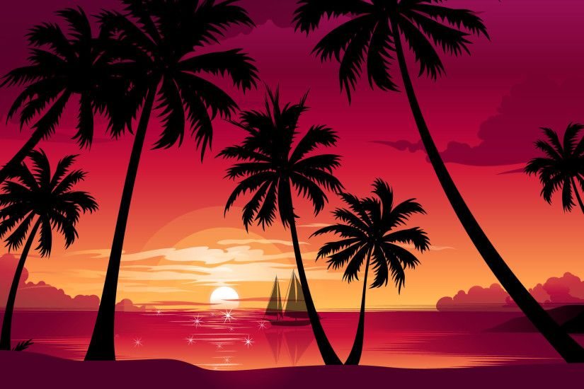 Palm Tree Beach Sunset | sunset hd wallpapers palm trees sunset wallpapers  palm trees sunset .