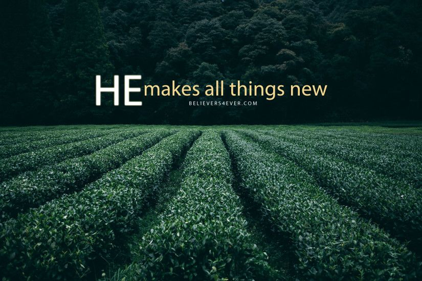 He makes all things new