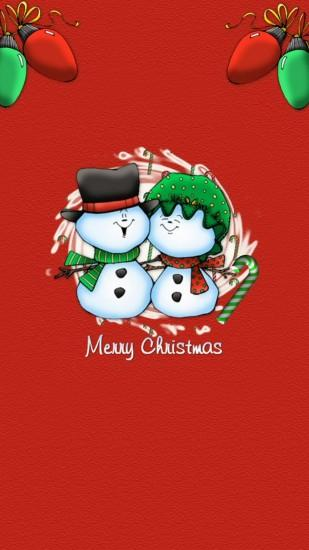 Snowman Couple Christmas iPhone 6 & iPhone 6 Plus Wallpaper