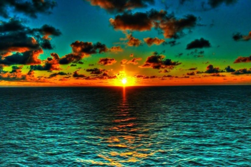 Free Wallpaper Ocean Sunset Pictures 5 HD Wallpapers | Eakai.