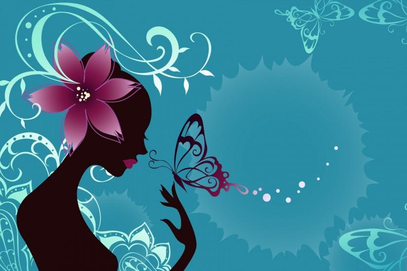 Girl With Butterfly Wallpaper Laptop Backgroun #7733 Wallpaper | Cool .