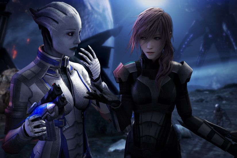 Asari Claire Farron Crossovers Liara TSoni Mass Effect Palaven Reapers  Science Fiction Video Games