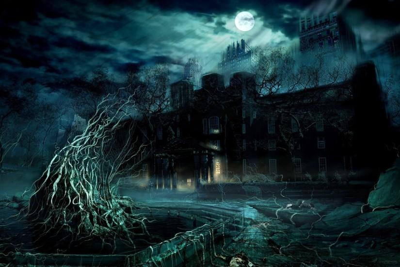 Fantasy Dark Castles | Dark Fantasy Castle Wallpaper with 1920x1080  Resolution