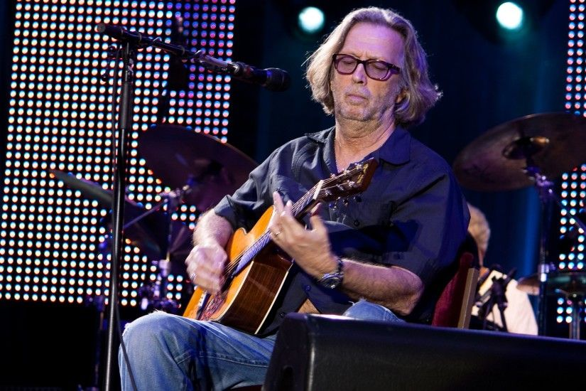 Preview wallpaper eric clapton, guitar, show, drum, play 3840x2160