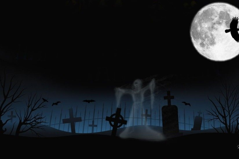 Halloween Graveyard Wallpaper (01) Halloween Graveyard Wallpaper (02) ...