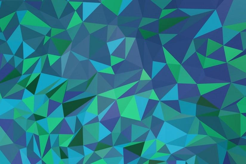Bluish polygon mesh wallpaper 2560x1440