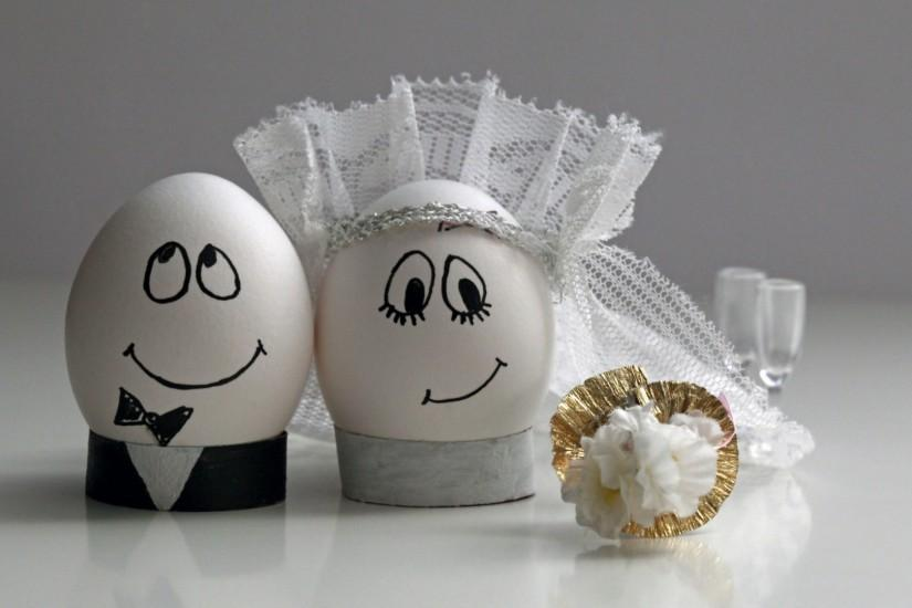 1920x1080 Wallpaper eggs, wedding, easter, decoration, couple