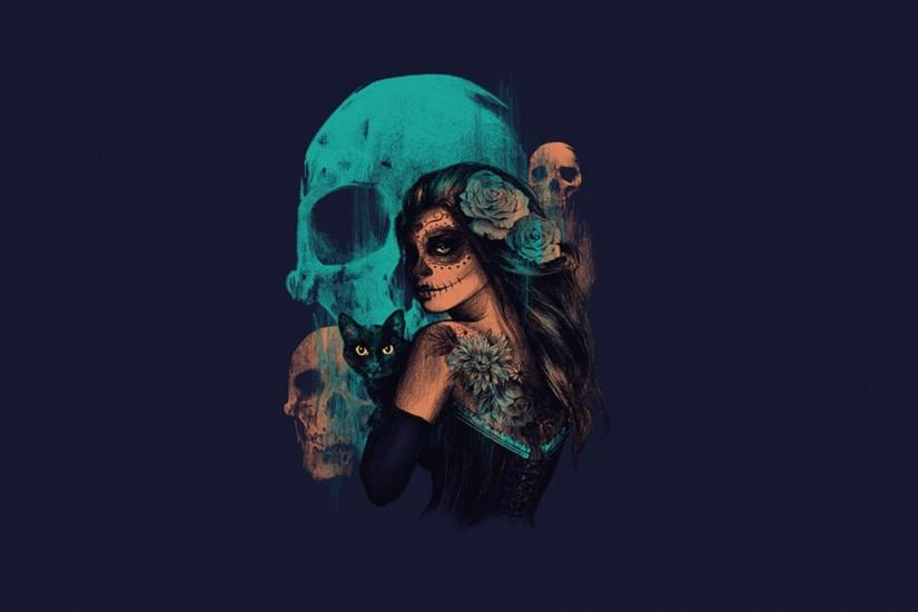 Sugar Skull Girl, Sugar Skulls, Hd Desktop, Cool Art, A Tattoo, Day Of The  Dead, Tattoo Ideas, The, Wallpaper