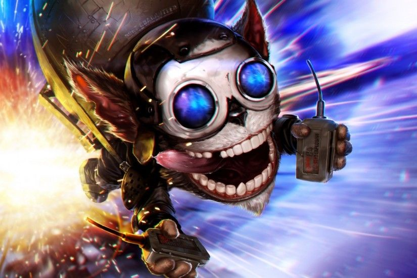 2560x1440 Wallpaper league of legends, ziggs, art