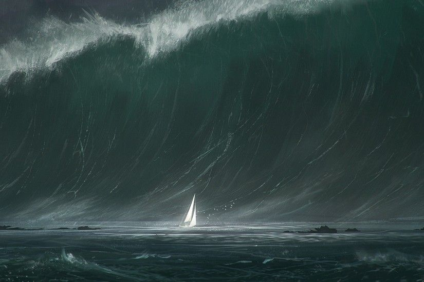Download Tsunami Wallpaper Pictures to pin 1920x1080