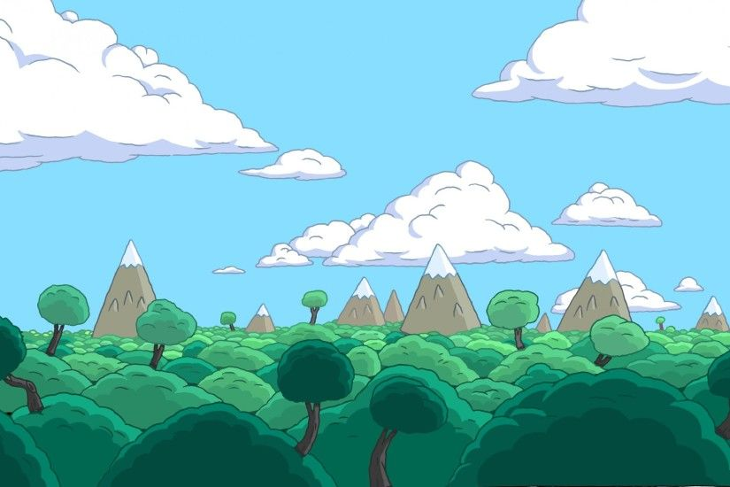 Download Adventure Time Landscape 2560x1440 HD Wallpaper