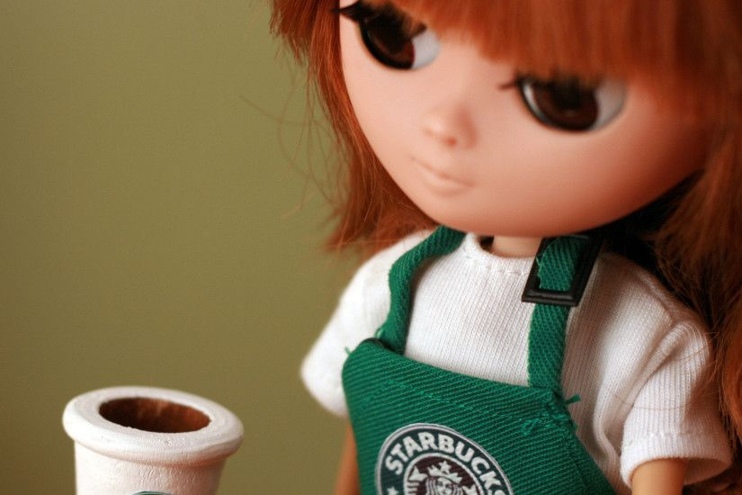Cute Starbucks Wallpaper Doll