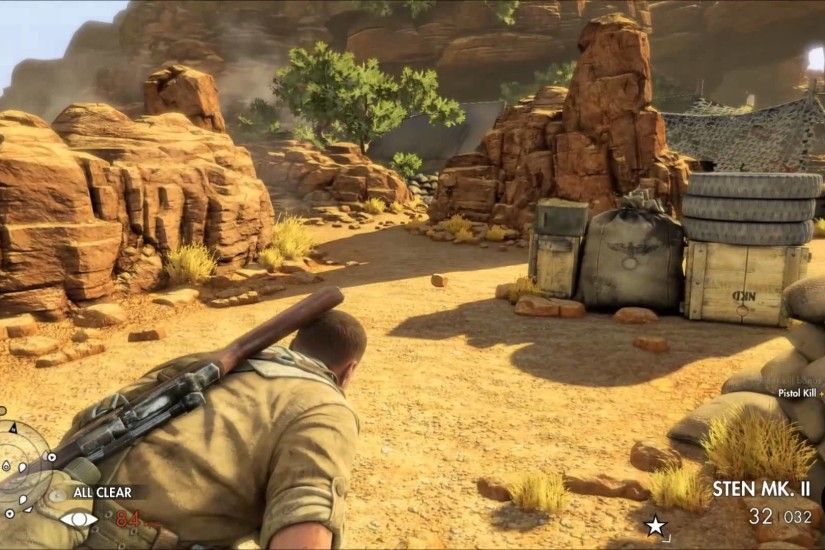 Sniper Elite 3 Afrika Ultra Settings GTX 960 1080p Gameplay (FPS Counter)