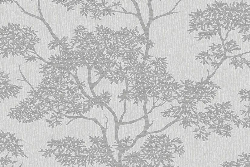 Glamour Tree Wallpaper Grey / Silver (ILW980065)