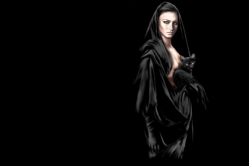 cat, clothes, girl, lady, gothic, fantasy