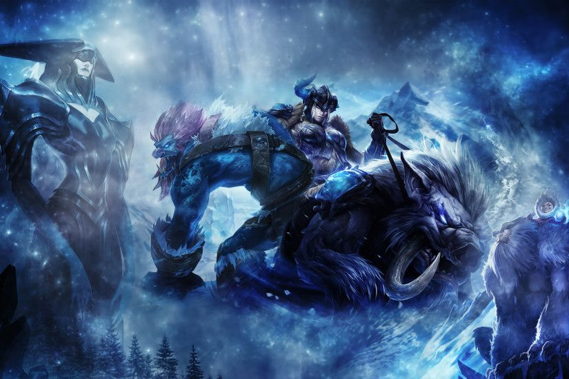 Sejuani, Lissandra, Trundle & Nunu by iamsointense HD Wallpaper Fan Art  Artwork League of