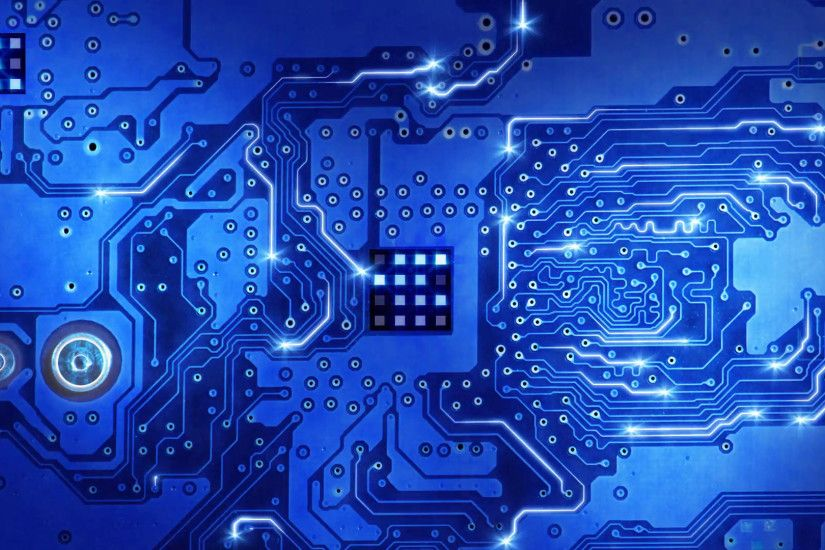 computer circuit board blue loopable background Motion Background -  VideoBlocks