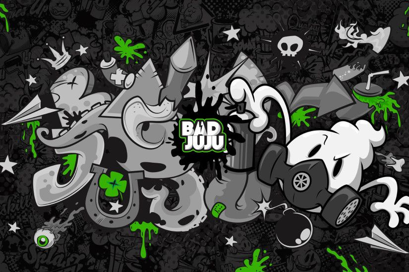 Art drawing black and white graffiti background