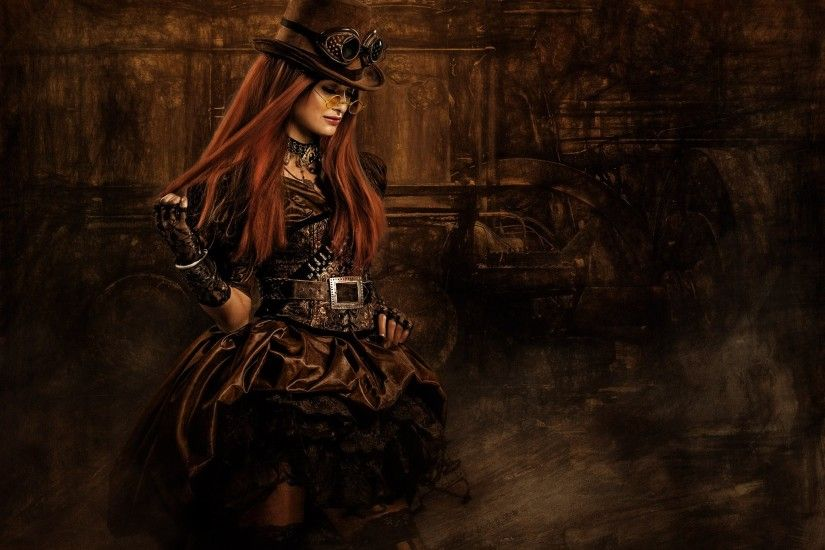 Steampunk Woman With Glasses - Desktop Nexus Wallpapers