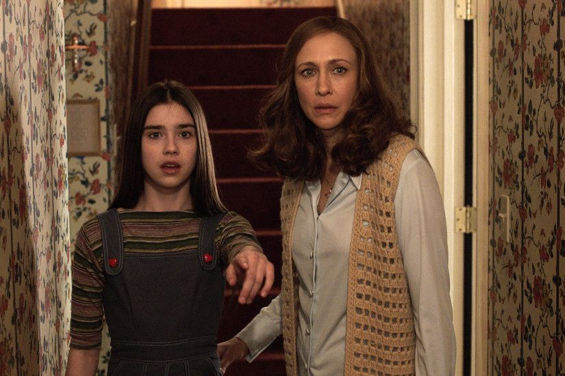 Judy Warren (Sterling Jerins) and Lorraine Warren (Vera Farmiga) in The  Conjuring 2.