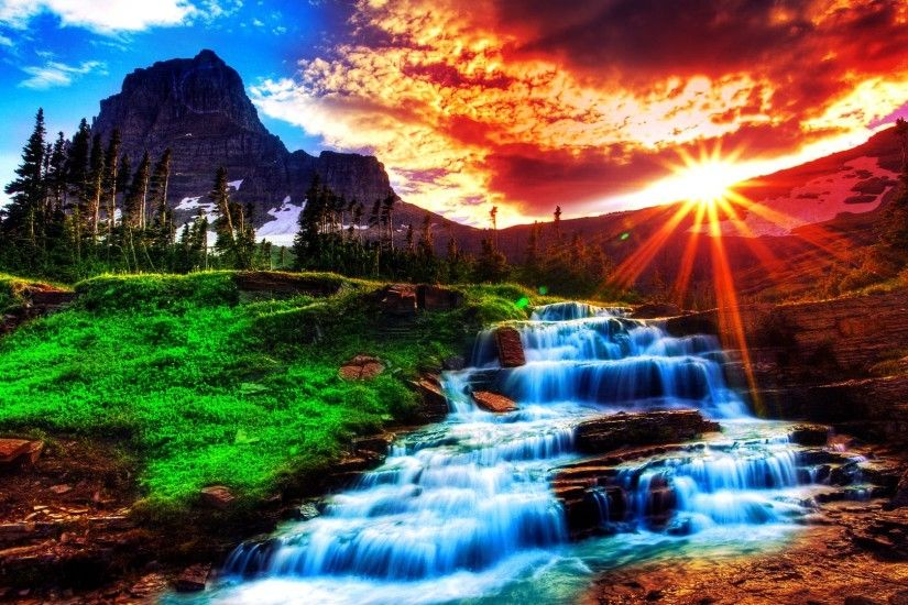 Awesome waterfall desktop #wallpaper