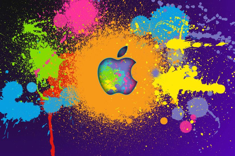 Colorful Abstract Apple Fancy Wallpaper.