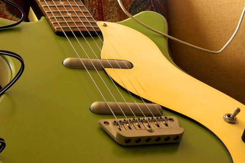 Wallpaper Green, Electric Guitar, Background