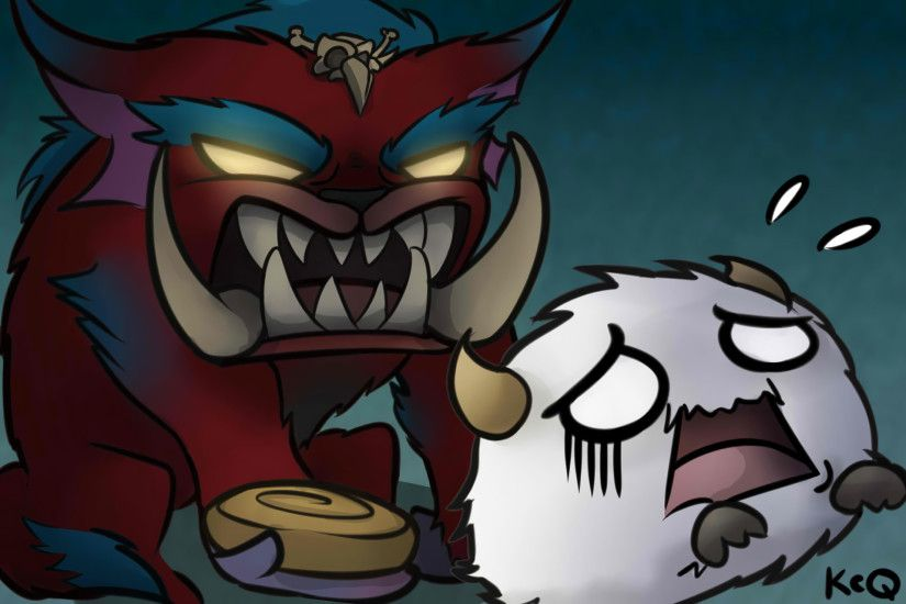 Mega Gnar & Poro by KittyConQueso HD Wallpaper Fan Art Artwork League of  Legends lol
