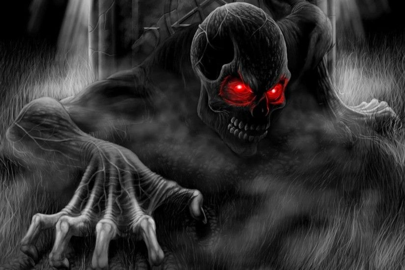 HD Dark Skull With Eyes Wallpapers 1080p