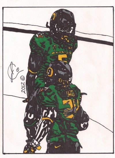 ... Kenjon Barner and DeAnthony Thomas Illustration by JColley79