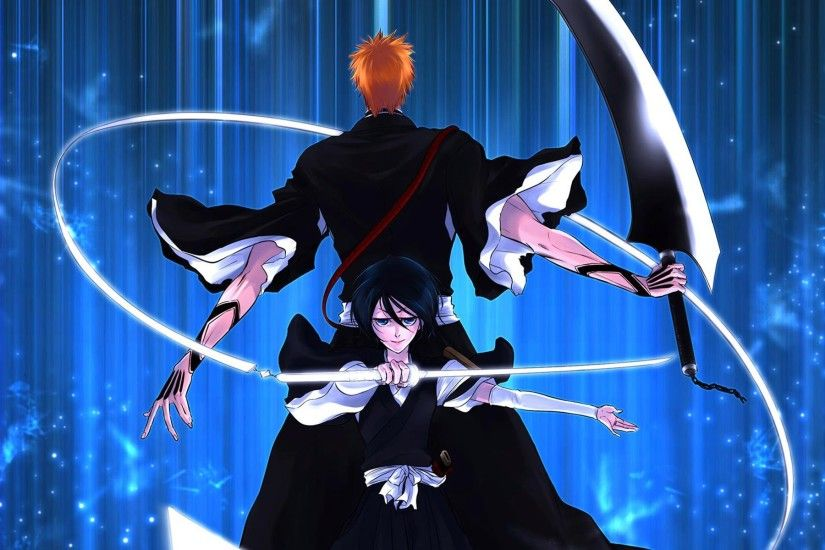 Ichigo Kurosaki Rukia Kuchiki Picture Anime Bleach Hd Wallpaper 1920x1200