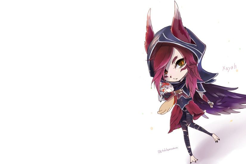 Chibi Xayah by tokiharumm HD Wallpaper Fan Art Artwork League of Legends lol