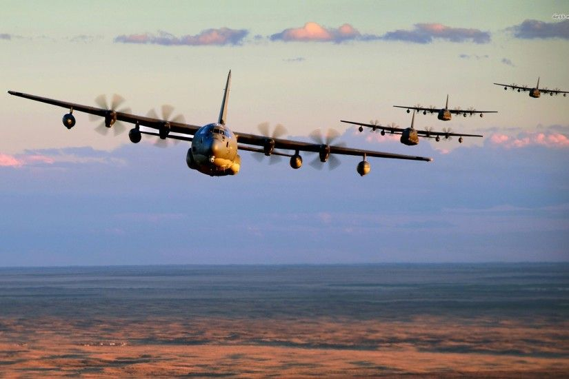 ... Lockheed AC-130 formation wallpaper 1920x1200 ...