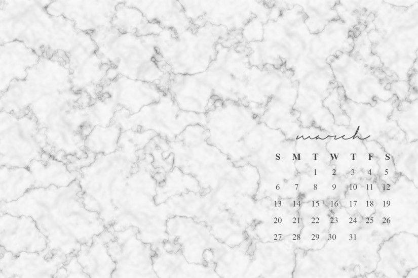 Marble Desktop Wallpaper Calendar : March desktop background ·①