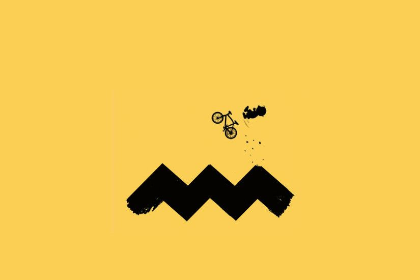 1920x1080 Charlie Brown cycling wallpaper