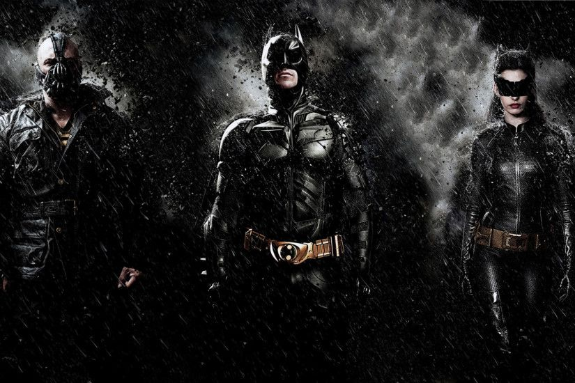 Movie - The Dark Knight Rises Bane (Batman) Batman Catwoman Wallpaper