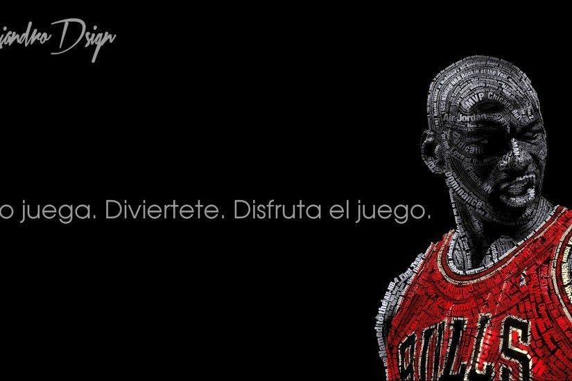 Michael Jordan, Typographic Portraits, Chicago Bulls, Basketball, Black  Background, Quote