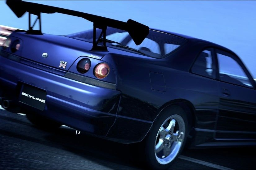 Gran turismo 5 nissan skyline r33 gtr playstation wallpaper