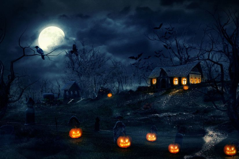 Scary Halloween HD Backgrounds.