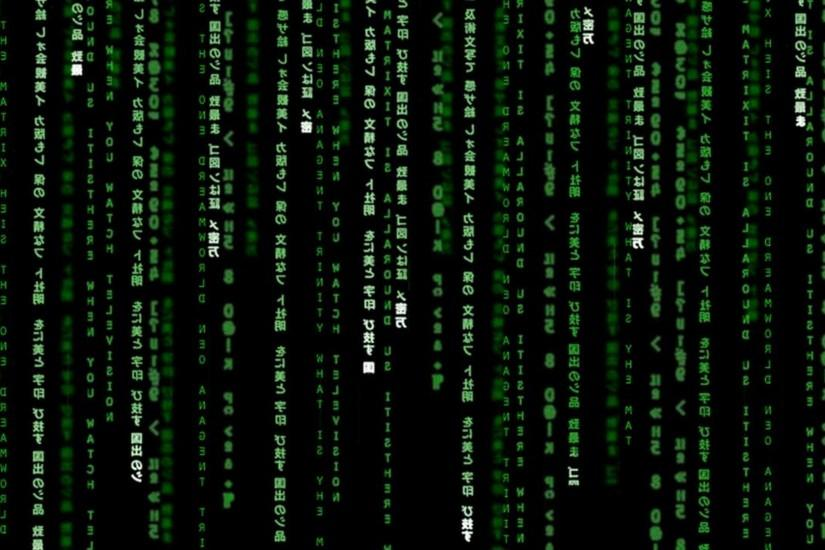 The Matrix Binary Poster Wallpaper HD