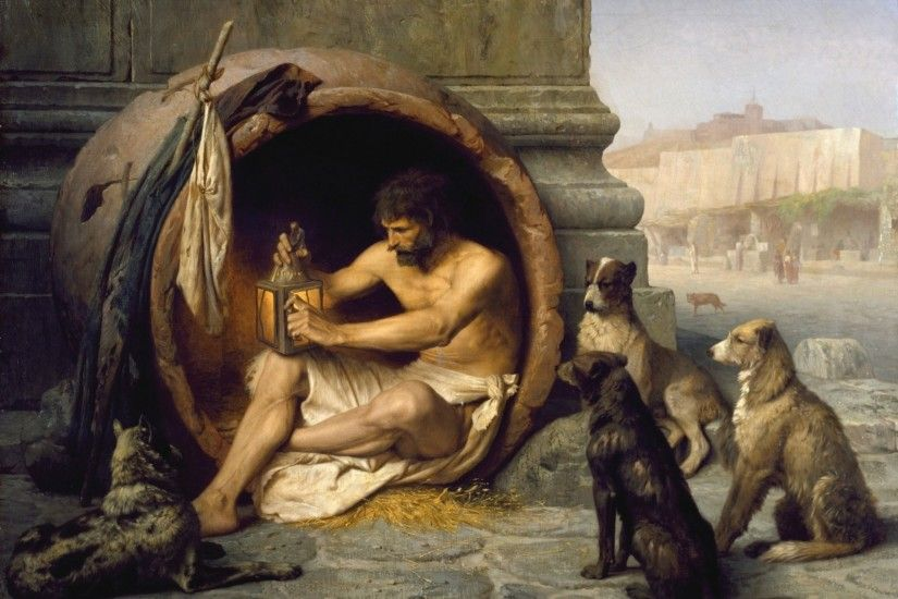 diogen dog man painting pattern diogenes sage ascetic thinker hobo a poor  philosopher dog dog street
