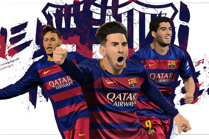 wallpaper messi suarez neymar msn 2015 by Designer-Abdalrahman on .