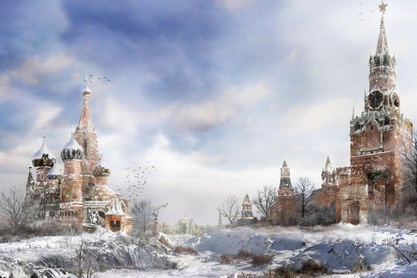 Preview wallpaper metro 2033, moscow, winter, cold 3840x2160