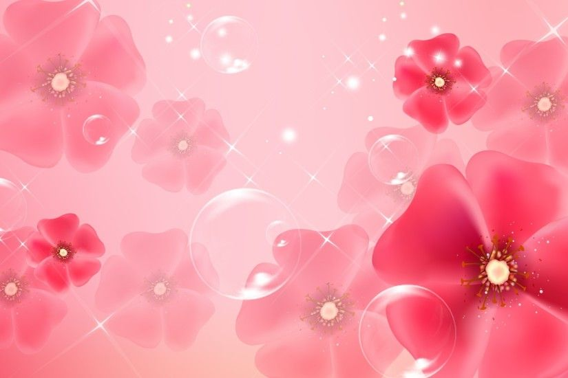 Pink Flower Backgrounds Flower Backgrounds ...