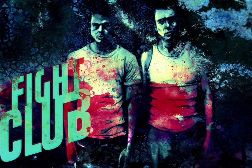 Preview wallpaper fight club, man, fighter, blood, title, t-shirt