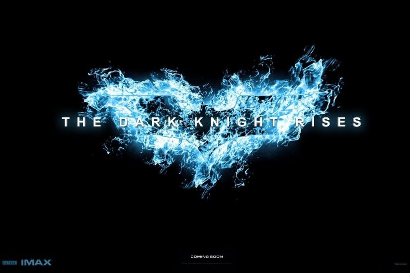 Wallpapers Backgrounds - Batman Blue Dark Knight Rises Black Background Logo