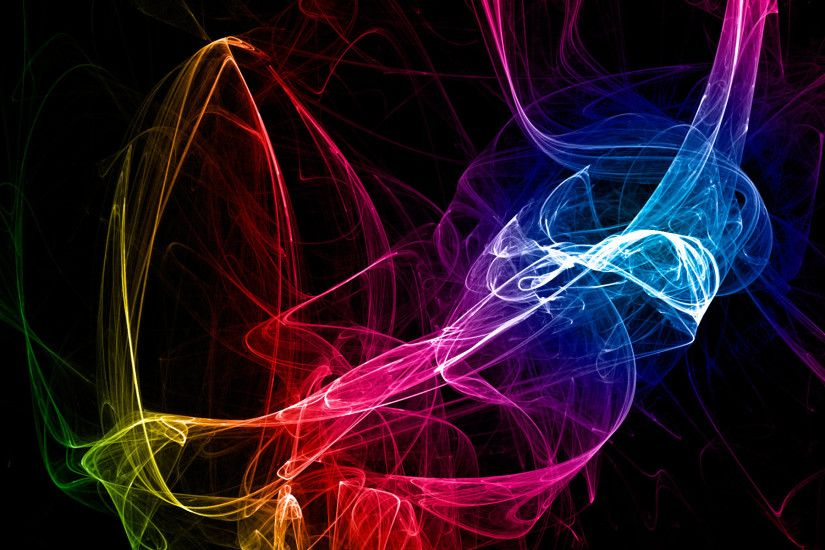 Abstract Black Background Color Spectrum Smoke