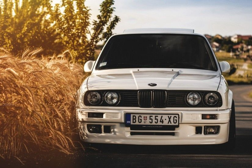 Preview wallpaper bmw, 325i, e30, white, auto 1920x1080