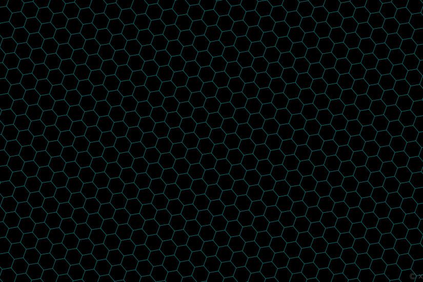 wallpaper honeycomb black blue hexagon beehive dark turquoise #000000  #00ced1 diagonal 40° 1px