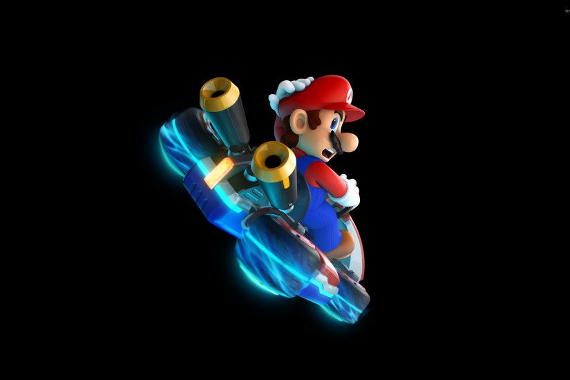 Download Wallpaper 2560x1600 Mario, Earth, Jump, Space 2560x1600 .